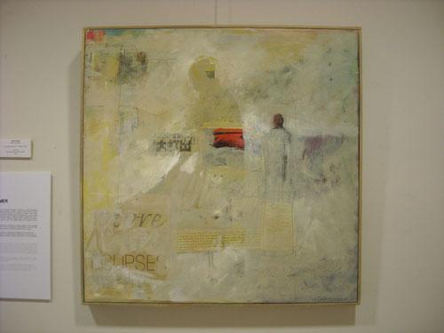 Preparados para amar.61x61cm.Óleo sobre lienzo 2007. Bomer yuxtapone imagen y texto para crear conexiones y metáforas imprescindibles y no perceptibles a primera vista.