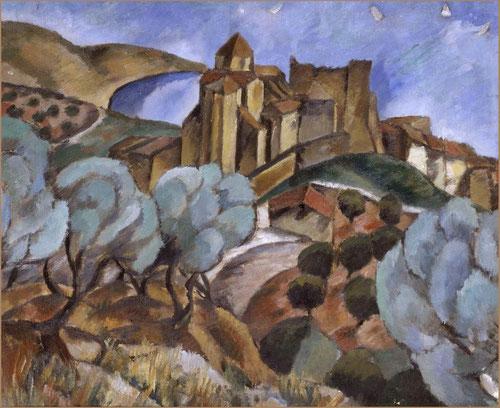 Josep Togores Paisaje.Óleo sobre lienzo.48x57cm.Museo Nacional de Arte Reina Sofia.