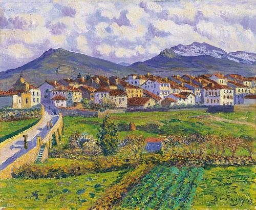 Paisaje de Hernani,1900.Óleo sobre lienzo.50x61cm.Colección Carmen Thyssen.