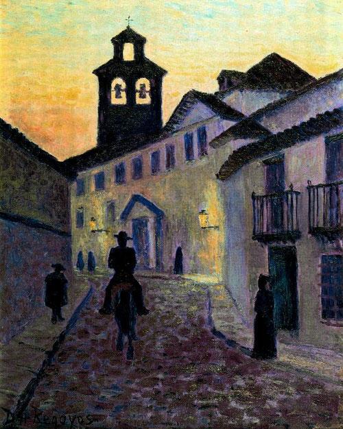 Una calle en Córdoba,1905.Óleo sobre tabla.40x31cm.wwwartelandia.com