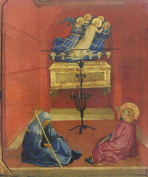 Tambien  la visión de Santa Lucía tiene origen en la Leyenda Dorada.Lucia y su madre Euticia pertenecían a una noble familia siciliana de Siracusa,la madre tenía una enfermedad incurable cuando fueron a Catania a ver Sta.Ágata se quedaron dormiddas.