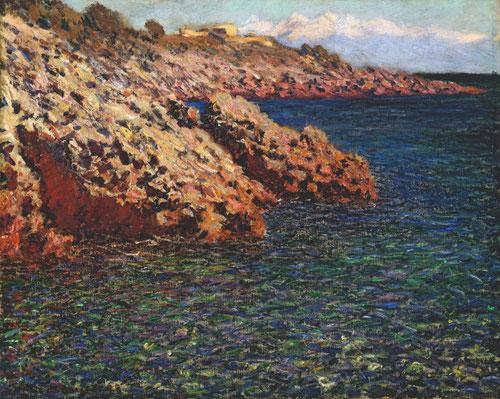 Claude Monet se dejó cautivar por el Mediterráneo el Cabo de Antibes en 1888. Óleo sobre lienzo 65x81cm. Columbus Museum of Art, Ohio....y no sólo en el ámbito estético sino por los beneficios del alma y cuerpo.