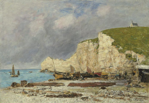 Eugène Boudin.Étretat 1891.78x110cm.Chazen Museum of Art,University of Wisconsin-Madison.