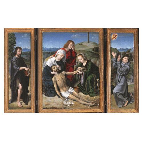 Gerard David.Tríptico del Descendimiento, primer tercio del SXVI. Óleo sobre tabla. Monasterio del Escorial