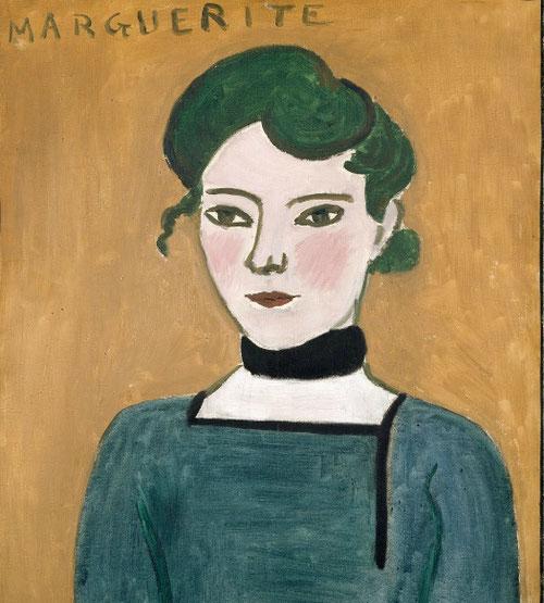 Matisse. Marguerite. 1907. Museo Nacional Picasso. Paris. Ya en el salon de los Indpendientes de 1907 el grupo de los fauves, comienza su dsintegración.
