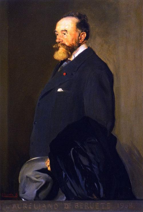 Sorolla. Aureliano Beruete 1908.Representa un homenaje a la cordial relación entre ambos artistas.Beruete conocía bien la obra de Velazquez.