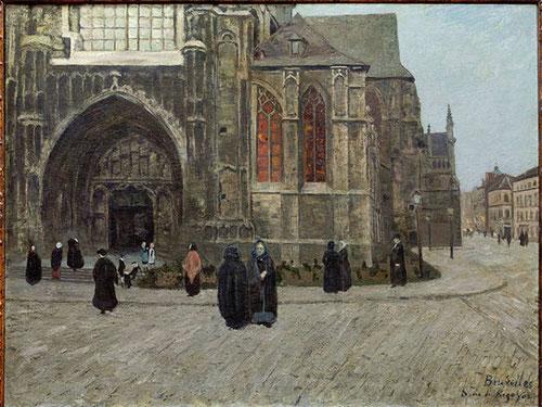 Darío de Regoyos. Mes de María en Bruselas,1884.Óleo sobre lienzo.90x124cm.Colección Casacuberta Marsans.