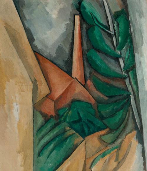 Raoul Dufy. Usine á L´Estaque. Fiel a Cezanne, y deconstruyendo colores, Dufy reconduce a formas geométricas su paisaje sinuoso.
