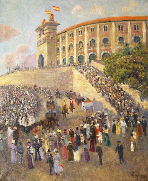 Salida de los toros de San Sebastian, 1903Óleo sobre lienzo,61x50cm.Colección particular.