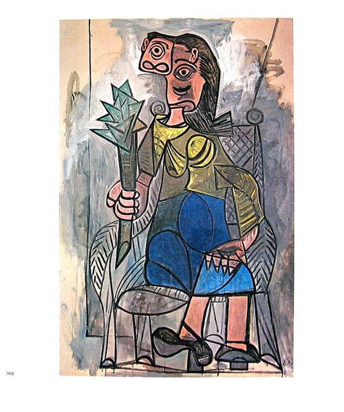 Mujer con alcachofa 142. Óleo sobre tabla 195x130cm.Museo Ludwig, Colonia.