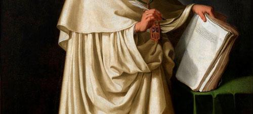 Detalle de Fray Pedro de Oña,1629.Ayuntamiento Sevilla. La Orden de la Merced fue brazo ejecutor en SXVI de las directrices tridentinas y gran formador de bibliotecas para satisfacer las inquietudes de sus monjes.