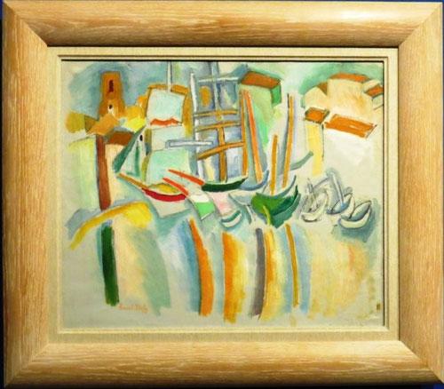 Terraza junto a la playa, 1907,óleo sobre lienzo,Museo de Arte Moderno en Paris.La construcción de esta composición, del espacio flotante, aunque sin caer en la abstracción, reduce la gama cromática y simplifica el cielo que desaparece por completo.