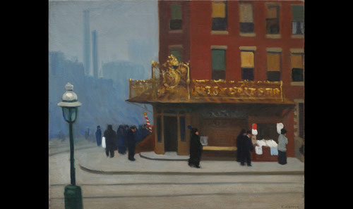 Hopper, Esquina de Nueva York.61x73cm.Óleo sobre lienzo. Colección privada.