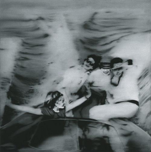 Richter.Lancha.1965.A inicios de la década de los años setenta, evolucionó para una pintura monocromática sobria. Todas las pinturas se basan en la fotografía o la naturaleza; constructivista, trabajo más teórico como tablas de color, paneles de vidrio.