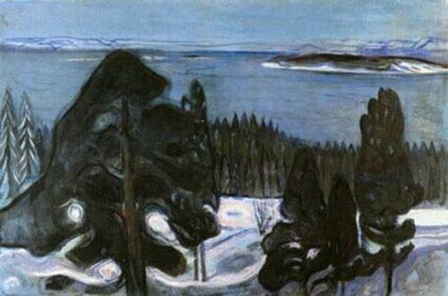 Noche de invierno 1900.Óleo sobre lienzo.81x121cm,Zúrich