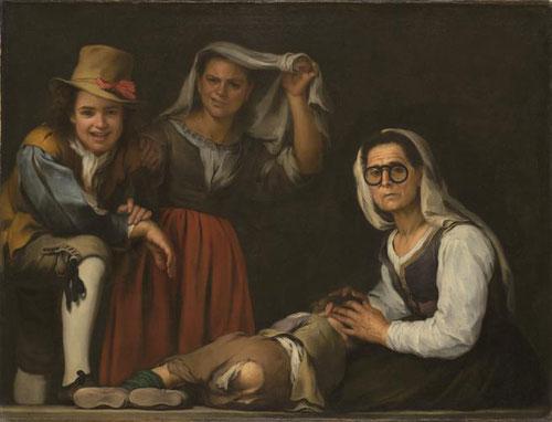 Bartolomé Esteban Murillo.Cuatro figuras en su escalón 1655.Texas Kimbell Art Museum.Las pinturas de Murillo muestran las ecenas de la vida cotidiana inspiradas en pintura holandesa.