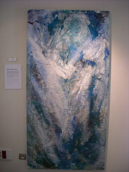 Isha.Maria Tarruella Oriol. 195x97cm.Pigmentos naturales,cera,acrílico sobre lienzo. 2010.
