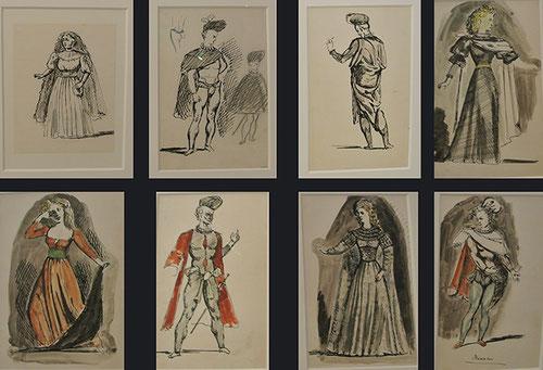 Les Cenci,Balthus resaltaba la anatomía de ls personajes,Teatro d la cruldad, crucifica lo real...figurines,farándulas todo un decorado inaugural para las artes ecénicas.