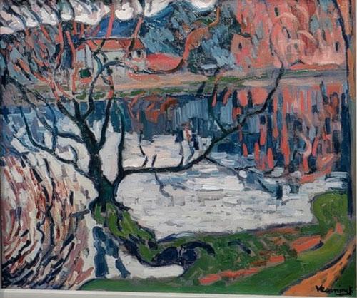 Maurice de Vlaminck.Chaville, el estanque de L´Ursine.1905 Impetuosa pincelada, alejada sin lugar a dudas de la pincelada convencional. Paleta intensa y violenta, el más fauve entre ellos.