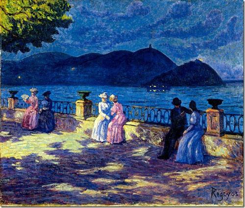 La Concha,nocturno,1906.Óleo sobre lienzo.54x65cm.Colección Carmen Thyssen