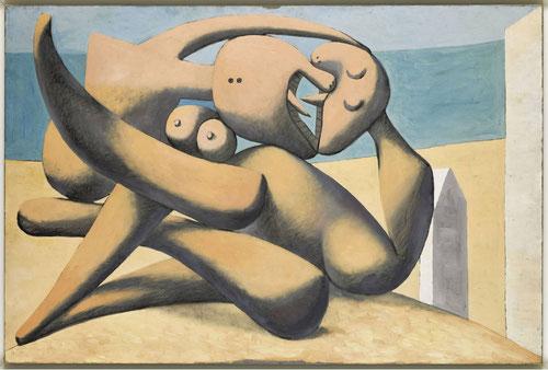 Figuras al borde del mar 1931.Óleo sobre tabla,130x195cm. Museo Nacional Picasso Paris.