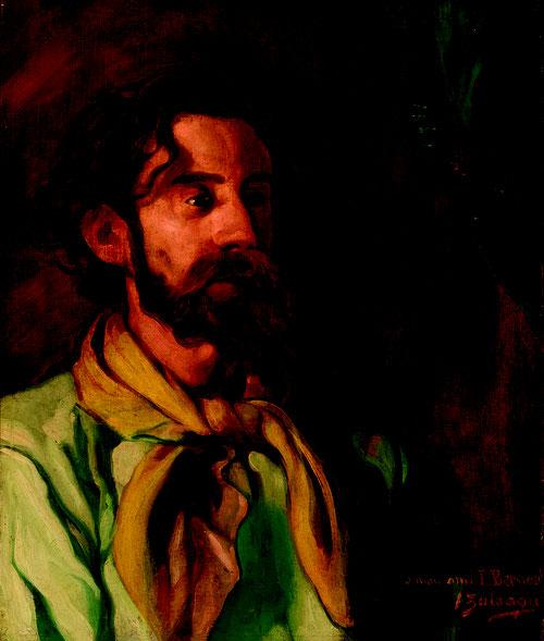 Ignacio Zuloaga. Retrato de Émile Bernard, 1897-1901. Zuloaga durante este etapa trata de liberarse de los refinamientos adquiridos en París.Sobriedad de formas y tonos de la escuela española.