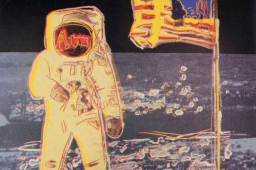 Andy Warhol.Paseo lunar 1987.Serigrafía sobre tabla Lenox Museum.