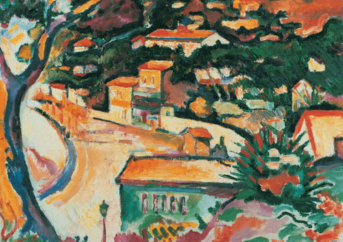 Georges Braque. L´Estaque 1906. Merzbacher Kunnststiftung.