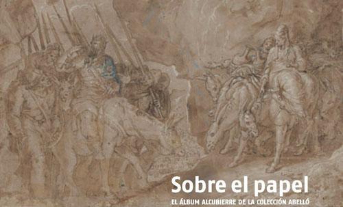 David y Abigail,Pedro de Campaña.Album Alcubierre, folio 33.Pluma, tinta parda, agua parda y albayalde sobre papel.