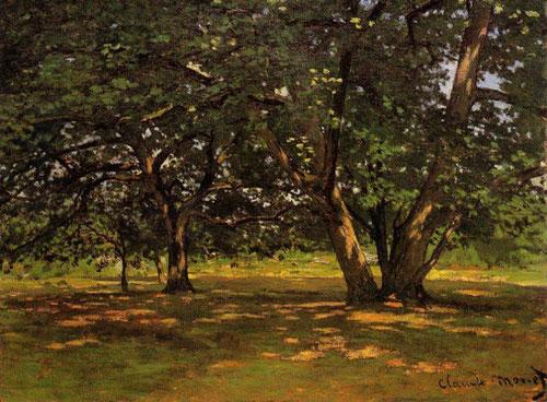 Claude Monet.Bosque de Fontainebleau 1863-1865.Óleo sobre lienzo 50x65cm.Kunstmuseum Winterthur.Ambos artistas solían trabajar juntos sus caballetes al aire libre.