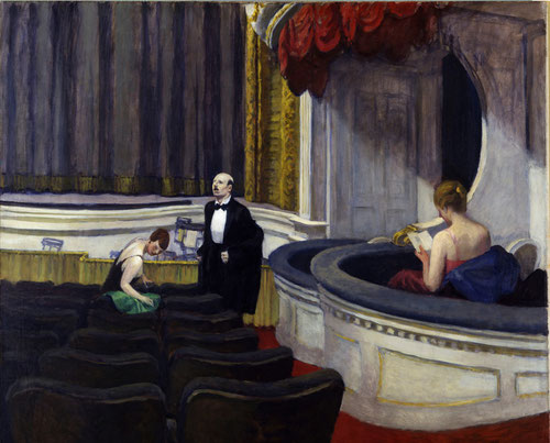Hopper. Dos en el patio de butacas, 1927. Óleo sobre lienzo, 102x122cm. The Toledo Museum of Art.