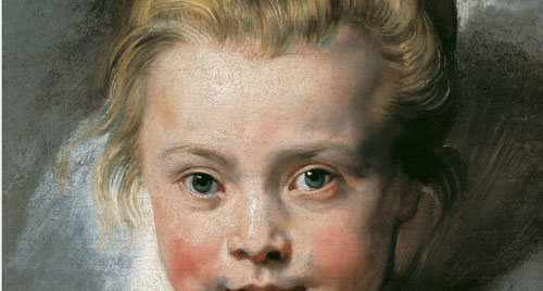 Retrato abocetado de Clara Serena Rubens.1616.Óleo sobre lienzo.Liechtenstein.La amorosa mirada que el artista proyecta sobre la niña, muerta a los 12 años,boceto inacado,como su vida.Imbuido de sentimiento personal,trasciende el alma de su hija.