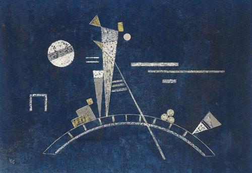 Frágil 1931,témpera sobre cartón,34x48cm.Legado N. Kandinsky.Despues que los nazis obligaran a cerrar la Bauhaus en Dessau en agosto de 1932,tal vez fue esta una de sus últimas obras pues nunca mas pudo exponer ni impartir clases en Alermania.Mundo frágil