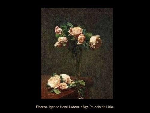 Latour fue contemporáneo de impresionistas, amigo de Monet, Degas, pero no militó en sus filas, inclinándose por un realismo lírico, elegante belleza de impecable ejecución.