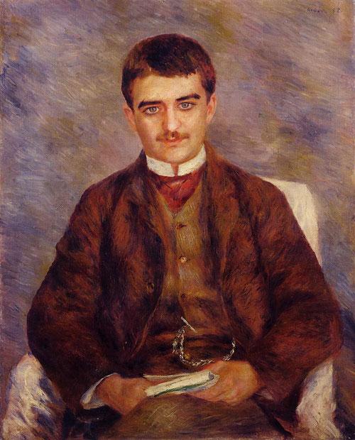 Joseph Durand-Ruel 1882.Óleo sobre lienzo 81x65cm.Colección privada. Su marchante entre 1831-1922) con guardó una gran amistad a lo largo de tiempo intensa y sincera durante 38 años.