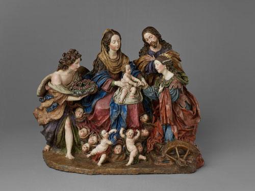 Los desposorios místicos de Santa Catalina,Luisa Roldan,(la Roldana)1692.Magnífica terracota de uno de los mayores talentos del SXVII, mujer artista pionera que ostentó el cargo de escultora de cámara.Trabajó en Sevilla,Cádiz y Madrid.