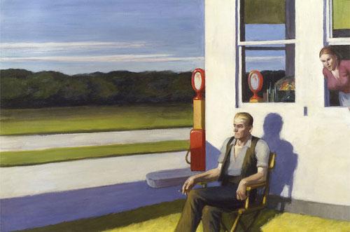 Hopper, Carretera de cuatro carriles, 1956. 69x105cm. Colección privada.