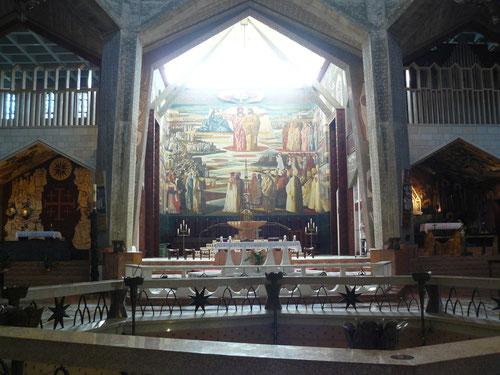 Interior de la Basílica de la Anunciación en Nazaret