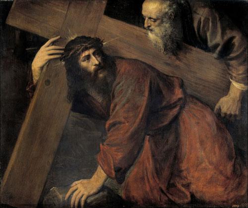 Tiziano, Cristo camino del Calvario.öleo sobre lienzo.98x116cm.Madrid, Museo Nacional del Prado.