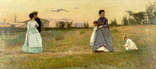 Silvestro Lega,los novios.1869.35x79cm