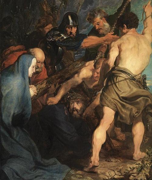 Van Dyck, Cristo con la cruz a cuestas,1618.Óleo sobre tabla,216x165cm.Amberes.Colgada en la Iglesia de S Pablo y saqueada por Napoleón y devuelta en 1815.Los dominicos la custodian junto a los 15 misterios del rosario.Comp.diagonal muy de Rubens.