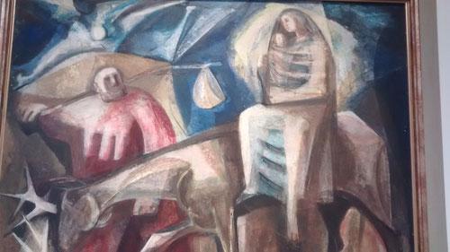 Huida a Egipto.1954. Carlos Pascual de Lara. Óleo. 99x115cm. Colección particular Luis Rosales.