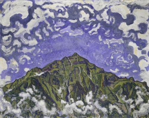 Ferdinand Hodler.El monte Niesen visto desde Heustrich,1910.Su primera etapa fueron paisajes, más tarde retratos con un poderoso realismo.Pintor suizo con gran potencial expresivo, figura esencial que enlaza el naturalismo del XIX con el expresionismo XX.
