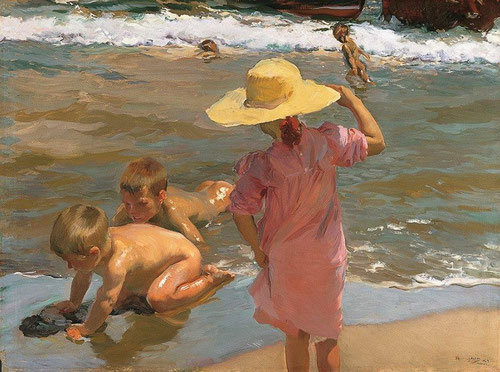 Sorolla.Niños a la orilla del mar. 1903.Óleo sobre lienzo,96x130cm.Philadelfia Museum of Art, Filadelfia.