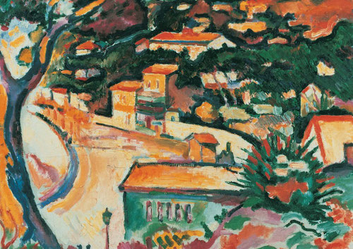 George Braque.L´Estaque1906. Merzbacher Kunststtiftung.