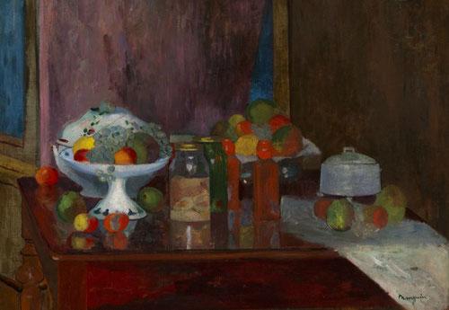 Henri Manguin.Los huevos rojos,1903.Colección particular. Durante años en el taller de Manguin y una vez muerto Moreau, se uniría el grupo fauve, y experimentaron colres puros en naturalezas muertas.