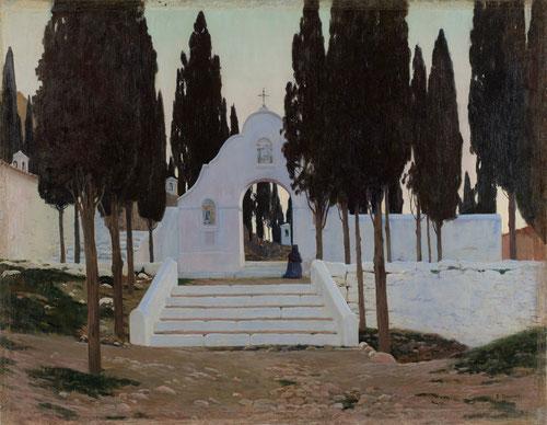 Santiago Rusiñol.Calvario en Sagunto al aterdecer.1901. Pintor, escritor, coleccionista de arte, fue una de las figuras mas notables de la cultura catalana.