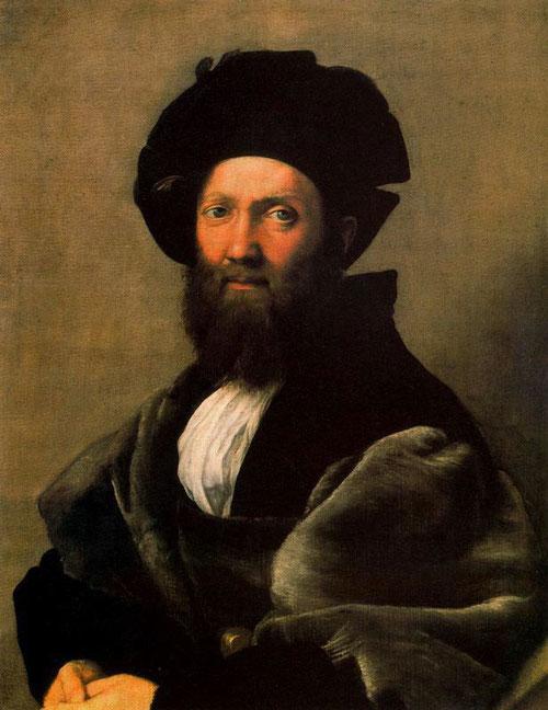Baltasar Castiglione,1519.Óleo sobre lienzo.82cmx76cm.Museo del Luuvre.