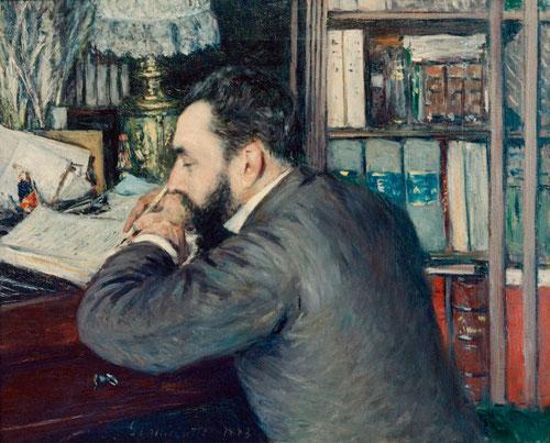 Gustave Caillebotte.Henri Cordier 1883.65x81cm