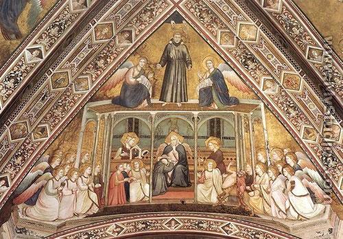 Alegoría de la obediencia franciscana. Giotto, Asís(Italia)